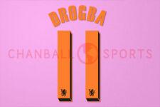 Drogba #11 2010-2011 Chelsea UEFA Champions League Awaykit Nameset Printing