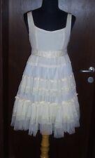 orig YUMI ★ TRAUM Kleid Spitzenkleid L 38 40 Celebrity Dress NEU rar beige cream