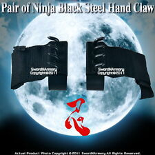 Pair of Ninja Gear Black Steel Hand Claw Shinobi Climbing Spikes