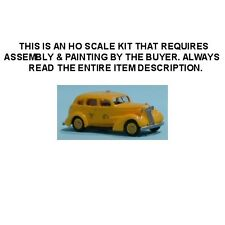 "HO SCALE: 1937 CHEVROLET 4-DOOR ""YELLOW TAXI"" SEDAN - Sylvan KIT #V-044"