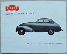 ALLARD SALOON & DROPHEAD COUPE Car Sales Brochure 1952