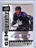 Drew Doughty 2009-10 UD Black Diamond Gemography Auto Autograph Kings #DD