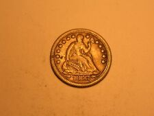 1853/1 O Seated Liberty Dime (VF+/Cracked Die @ Date/Rare/Attractive)