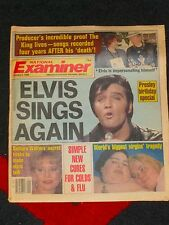NATIONAL EXAMINER - Tabloid - ELVIS IMPERSONATES HIMSELF - Jan 3, 1989 - Presley