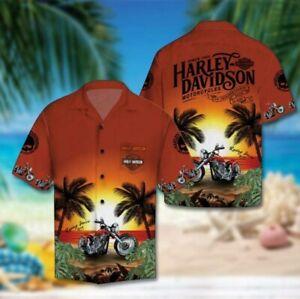 Harley-Davidson Motorcycle Hawaiian Shirt US Size M-4XL