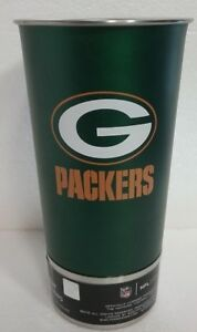 GREEN BAY PACKERS 16 OZ. STAINLESS STEEL METAL PINT GLASS W/ DUAL BOTTLE OPENERS