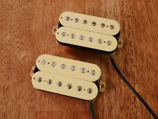 HUMBUCKER PICKUP SET CREAM ALNICO 2 MAGNETS VINTAGE OUTPUT FOUR CONDUCTOR WIRED