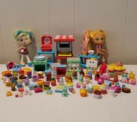 Shopkins HUGE Lot 96 Pieces Dolls, Accessories, Artistry, Happy Rare