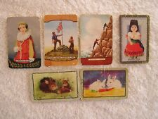 1950s  COLES  MIXED  NAMED  SWAP CARDS   X 6  CONDITION FAIR