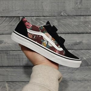 Vans OLD SKOOL Butterfly Floral Women's Shoes Size 8 - Youth 6.5