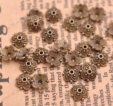 50PCS Tibetan Bronze Spacer beads Flowers Bead Caps Findings 8MM 3113