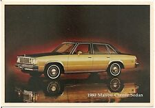 1980 Chevrolet Malibu Classic Sedan Automobile Advertising Postcard