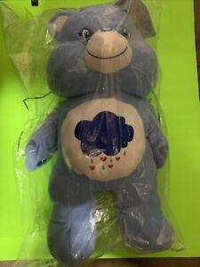 "Care Bears 24"" Pillow Plush Stuffed Animal, Grumpy Bear (Blue) New In Bag"