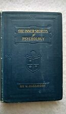 The Real Inner Secrets of Psychology Vol.4 Psychology of Health 1924 ex.Rare!
