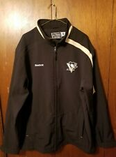 Pittsburgh Penguins Reebok Center Ice Collection Size XL Zip Up Light Jacket NHL