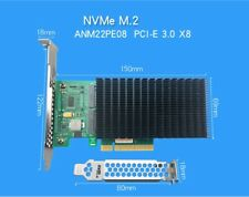 UNICACA ANM22PE08 NVMe Controller PCIe to M.2 Dualport SSD Adapter with headsink
