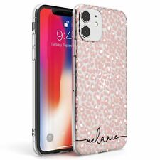 Personalised Label Pink Leopard Spot Print Slim TPU Case for iPhone Fashion