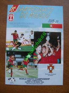 1995 FIFA World Youth Championship Qatar - Portugal edition programme-guide