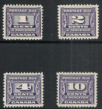 CANADA SCOTT J11 - J14 MNH VF SET - 1933/34 VIOLET POSTAGE DUE ISSUES  CV $115