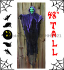 """48"""" POSEABLE  HALLOWEEN HANGING WITCH MONSTER GHOST REAPER PARTY PROP DECORATION"""