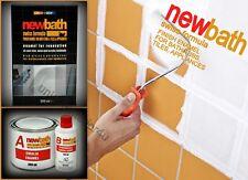 Bath Resurfacing Kit 2K Quick Dry Enamel White Paint Repair Tiles