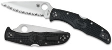 Spyderco Endura 4 knife Full Serrated Edge Black FRN Handle VG10 Steel C10SBK