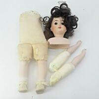 Antique Bisque Doll Gebruder Kuhnlenz Parts 165 K Made in Germany Brunette Brown