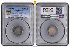 Napoléon III - Essai 50 Centimes (1856-A) Maz-1677a Uniface Obv - PCGS SP58