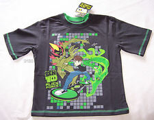 Ben 10 Alien Force Boys Charcoal / Green Printed Short Sleeve T Shirt Size 8 New