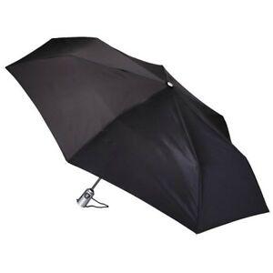 "TotesLarge Canopy 43"" Arc Auto Open Umbrella - Black"