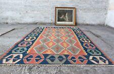 "Handmade Vintage Decorative Ethnic Anatolian Decorative Kilim Area Rug 5'9""x3'7"""