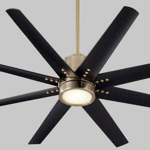 """Oxygen Lighting Fleet 56"""" 8 Blade Fan, Aged Brass - 3-112-40"""