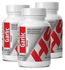 Garlic Powder Reduce Cholesterol Level Odorless 400mg (3 Bottles)