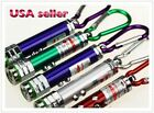 5 Pcs 3 in 1 Red Laser Light Pointer LED Flashlight Keychain Keyring Cat Toy