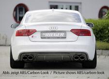 Rieger CUP Diffusor SCHWARZ für Audi A5 B8 S5 S-Line Facelift Heckansatz Ansatz