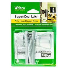 Whitco SCREEN DOOR LATCH Left/Right Opening Door 25mm Thick -SILVER *Aust Brand