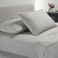 Bianca Heston 300TC 100% Cotton Percale Sheet Set Silver
