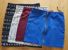 4 x H&M body-con Stretch Mini Skirts Xs