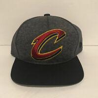 NBA Cleveland Cavaliers Snapback Hat Cap New Era Flat-bill Hat Dark Gray NWOT