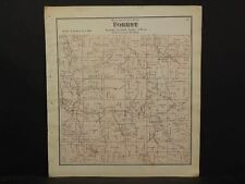 Wisconsin Richland County Map Forest Township 1874 K13#57