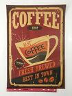 Coffee Shop Poster Vintage Retro Cafe Poster Print