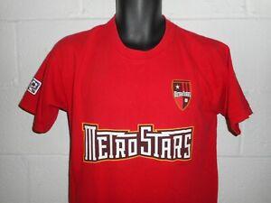 Vintage 2003 MLS NY NJ Metrostars #24 Eddie Gavin Jersey Style T-Shirt Youth XL