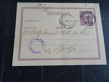 Nederlands Indië briefkaart G 1e SEMARANG - Djokja 1885 achter voorbedrukt, vouw