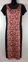 Paperdoll Women's Size Small Dress Black Red Pencil Knee Length Bodycon