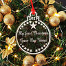 Personalised My First Christmas Star Bauble Tree Decoration, Babys Your 1st Xmas
