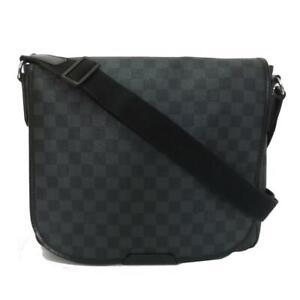 LOUIS VUITTON District MM Shoulder crossbody Bag N41272 Damier Graphite Used