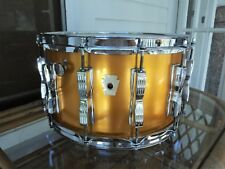 "Ludwig 8"" X 14"" Coliseum Snare Drum-Chicago-RARE Gold Silk-Vintage Early 80's!"