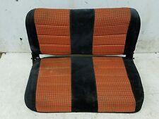 OEM Jeep Wrangler YJ Flip Fold Rear Seat 1987-1995 Black orange Cloth 94f