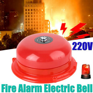"""Wired 4"""" Fire Alarm Electronic Bell 100mm External Metal 100dB Sound Alert 220V"""
