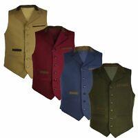 Mens Lapel Moleskin Waistcoat By Carabou Classic Soft Feel Gillet S-3XL b7be26d2eca
